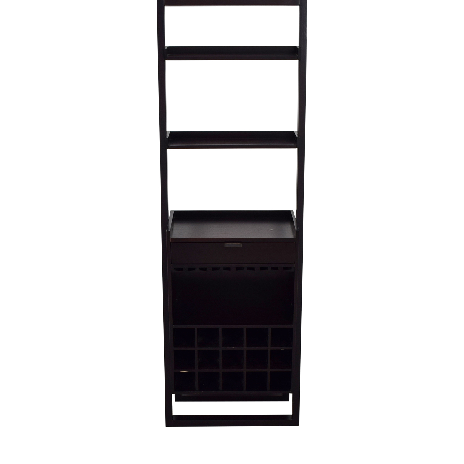 buy Crate & Barrel Berry Leaning Shelves and Single Drawer Bar Crate & Barrel Bookcases & Shelving