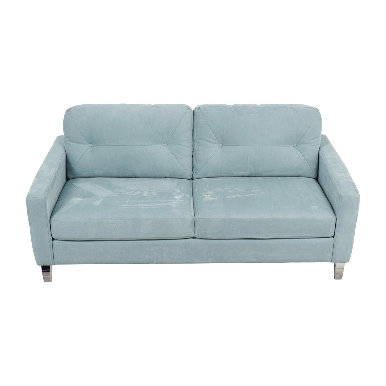Jensen Lewis Jensen Lewis Sky Blue Semi-Tufted Two-Cushion Sofa Classic Sofas