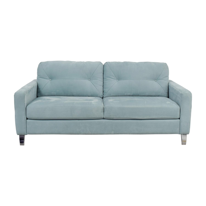 Jensen Lewis Jensen Lewis Sky Blue Semi-Tufted Two-Cushion Sofa sky blue