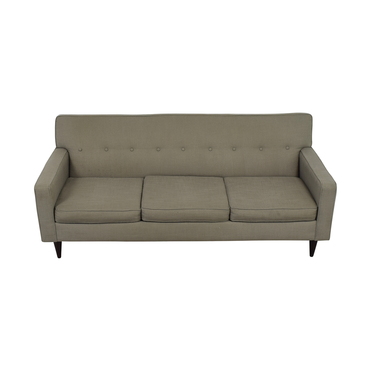 Max Home Furniture Max Home Furniture Three Cushion Granite Tufted Sofa for sale