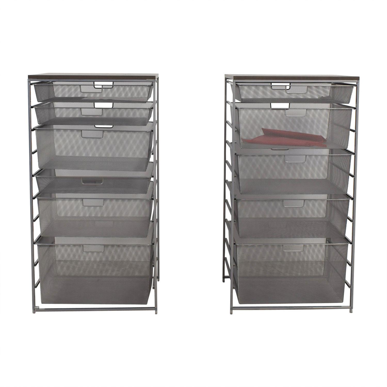 Beau 66% OFF   Elfa Elfa Mesh Storage Units / Storage