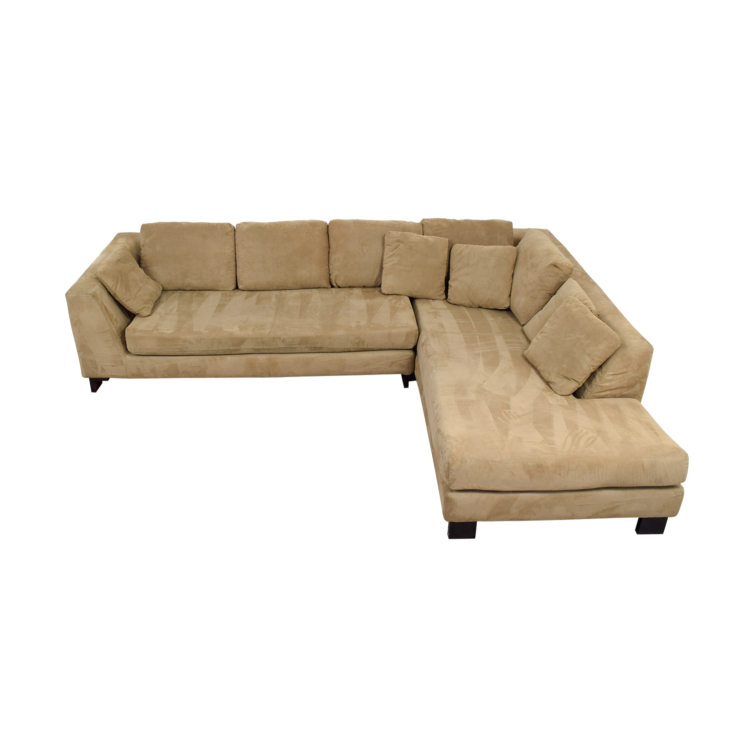 Tan L-Shaped Sectional on sale