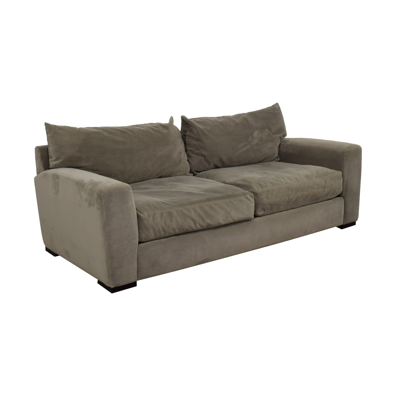 Raymour & Flanigan Raymour & Flanigan Carlin Grey Microfiber Two-Cushion Sofa