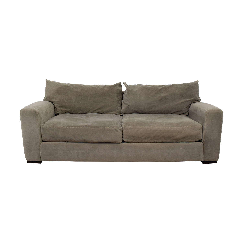 Raymour & Flanigan Raymour & Flanigan Carlin Grey Microfiber Two-Cushion Sofa dimensions