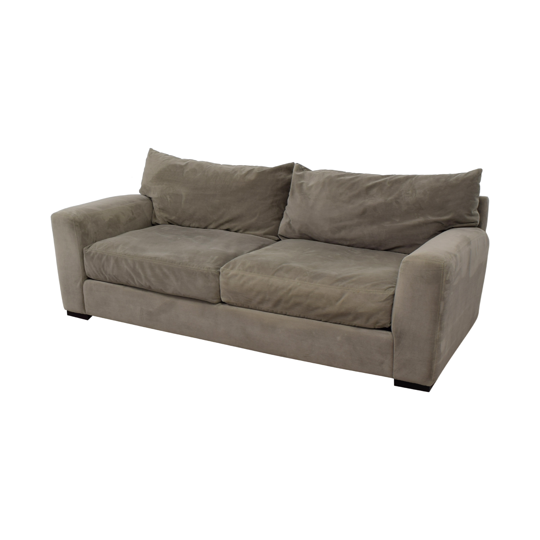 Raymour & Flanigan Raymour & Flanigan Carlin Grey Microfiber Two-Cushion Sofa used