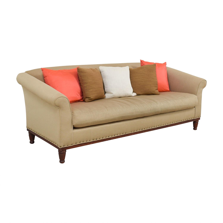 Ralph Lauren Ralph Lauren Tan Chinoisserie Nailhead Sofa price