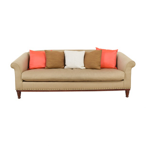 buy Ralph Lauren Tan Chinoisserie Nailhead Sofa Ralph Lauren Home