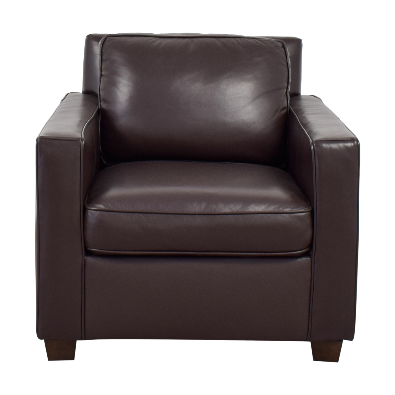 73% OFF   West Elm West Elm Henry Brown Leather Arm Chair / Chairs