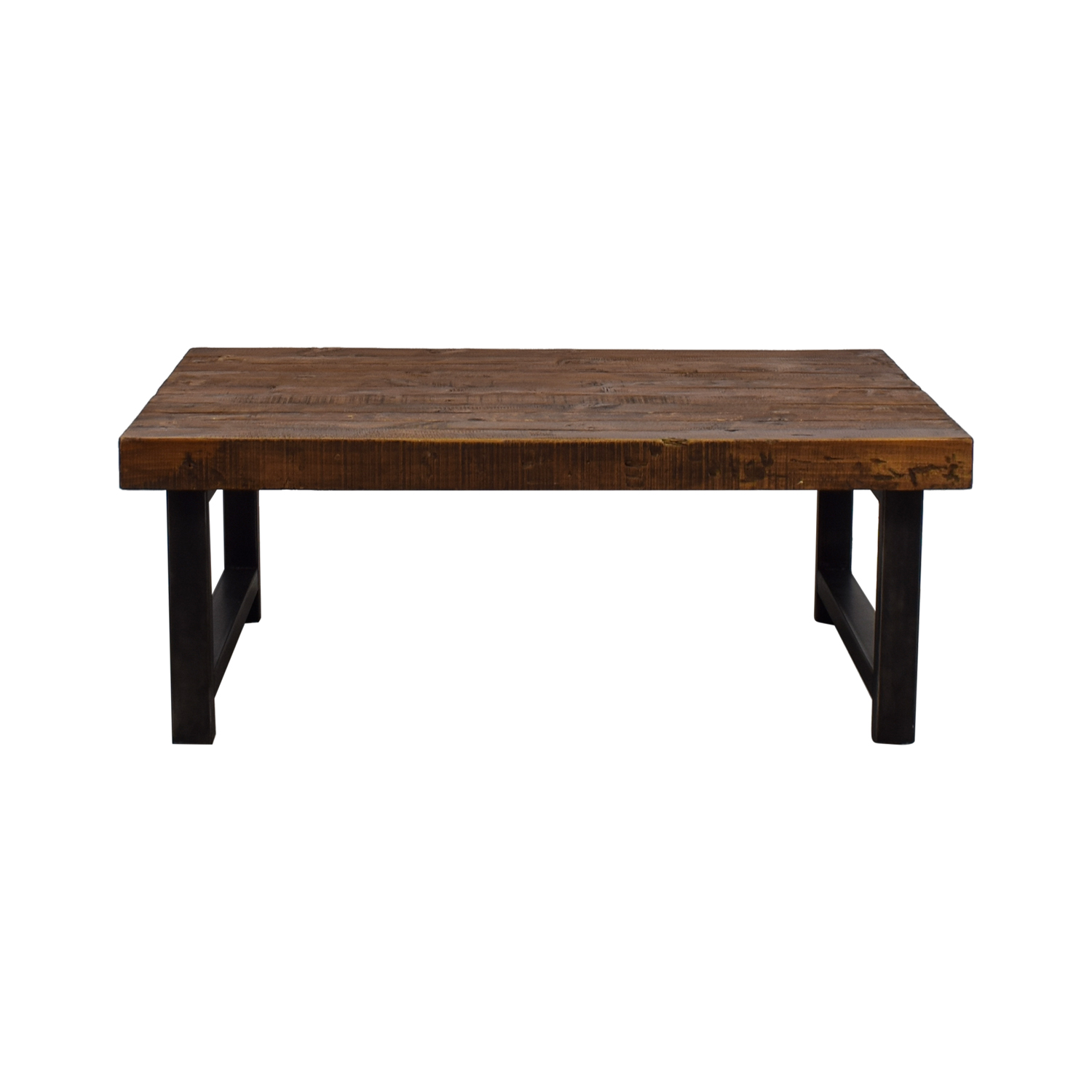 Pottery Barn Reclaimed Wood Coffee Table / Sofas