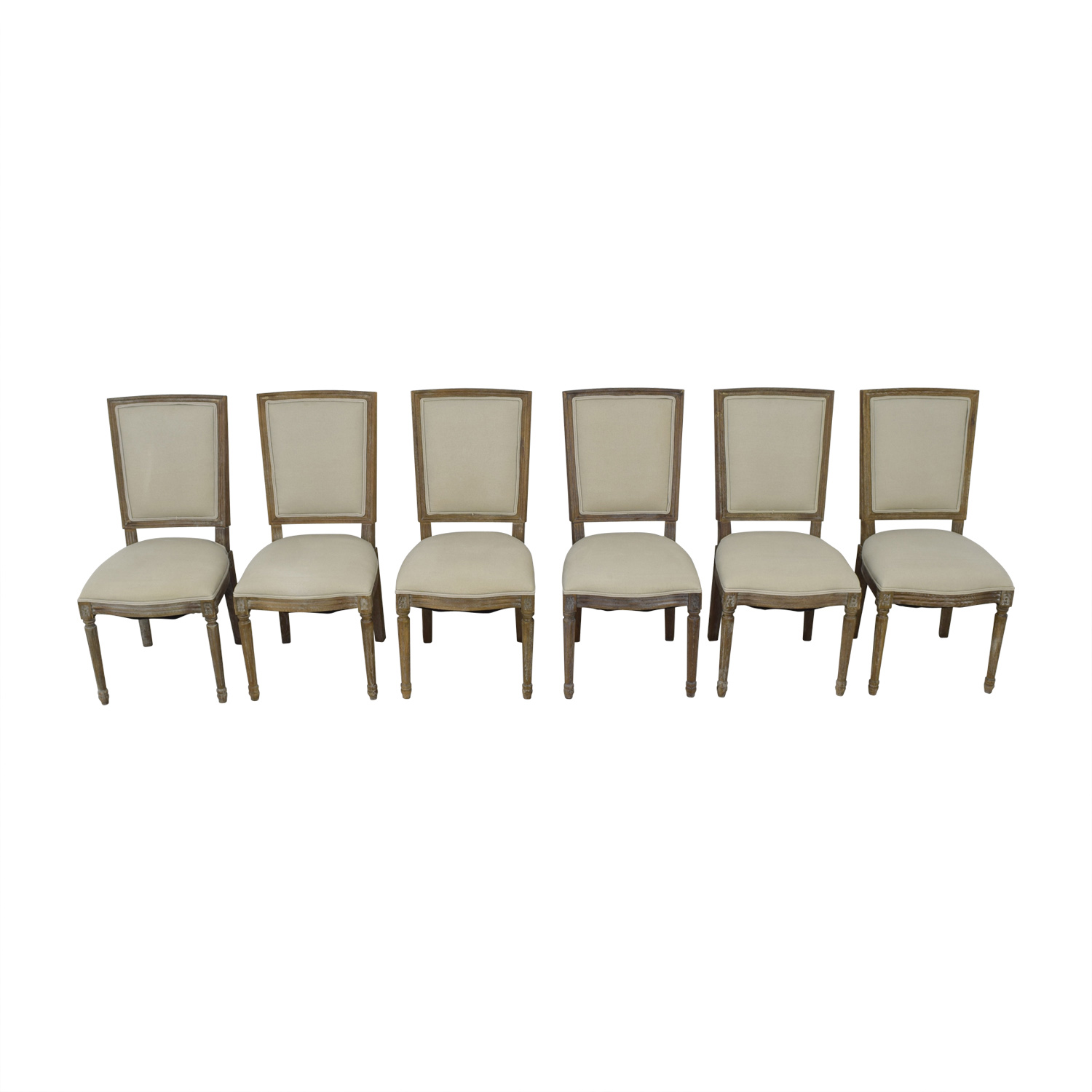 Brilliant 75 Off Arhaus Arhaus Adele Grey Upholstered Dining Chairs Chairs Machost Co Dining Chair Design Ideas Machostcouk