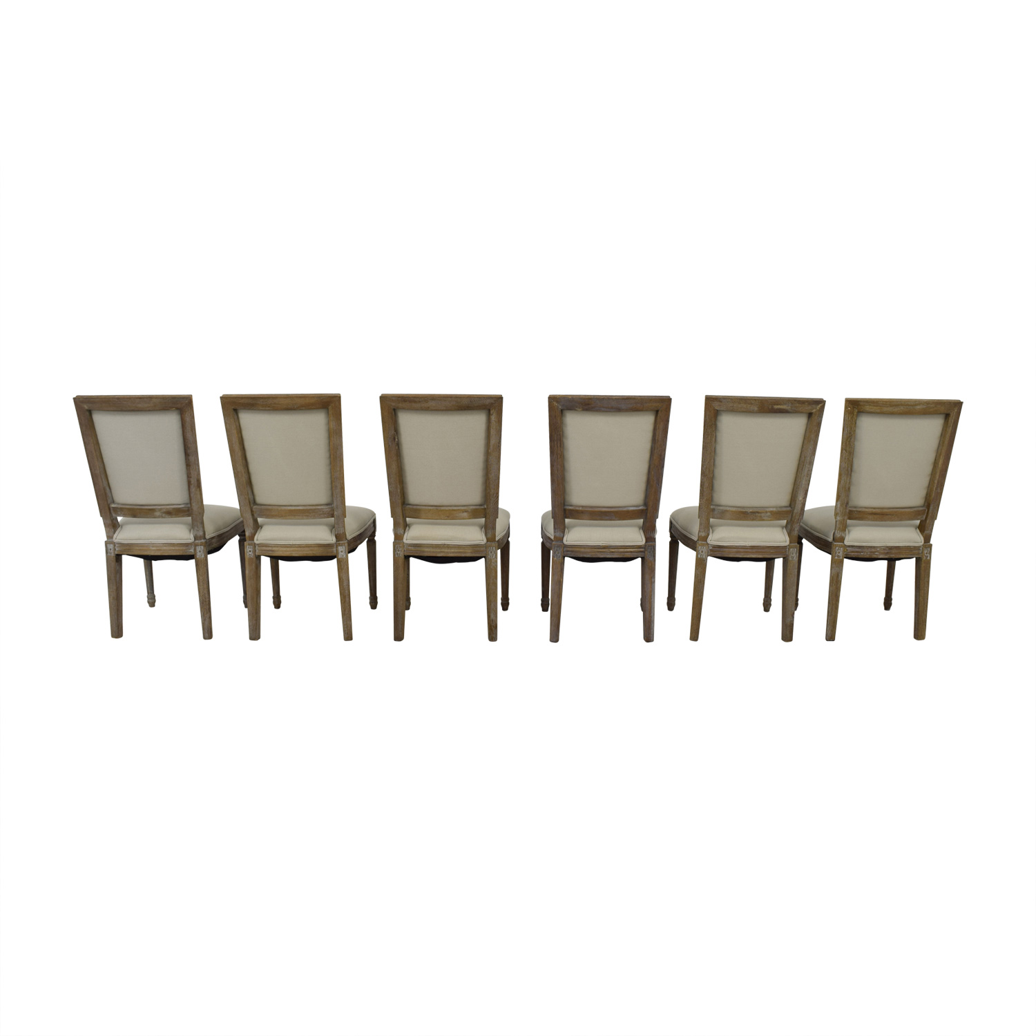 buy Arhaus Adele Grey Upholstered Dining Chairs Arhaus Dining Chairs
