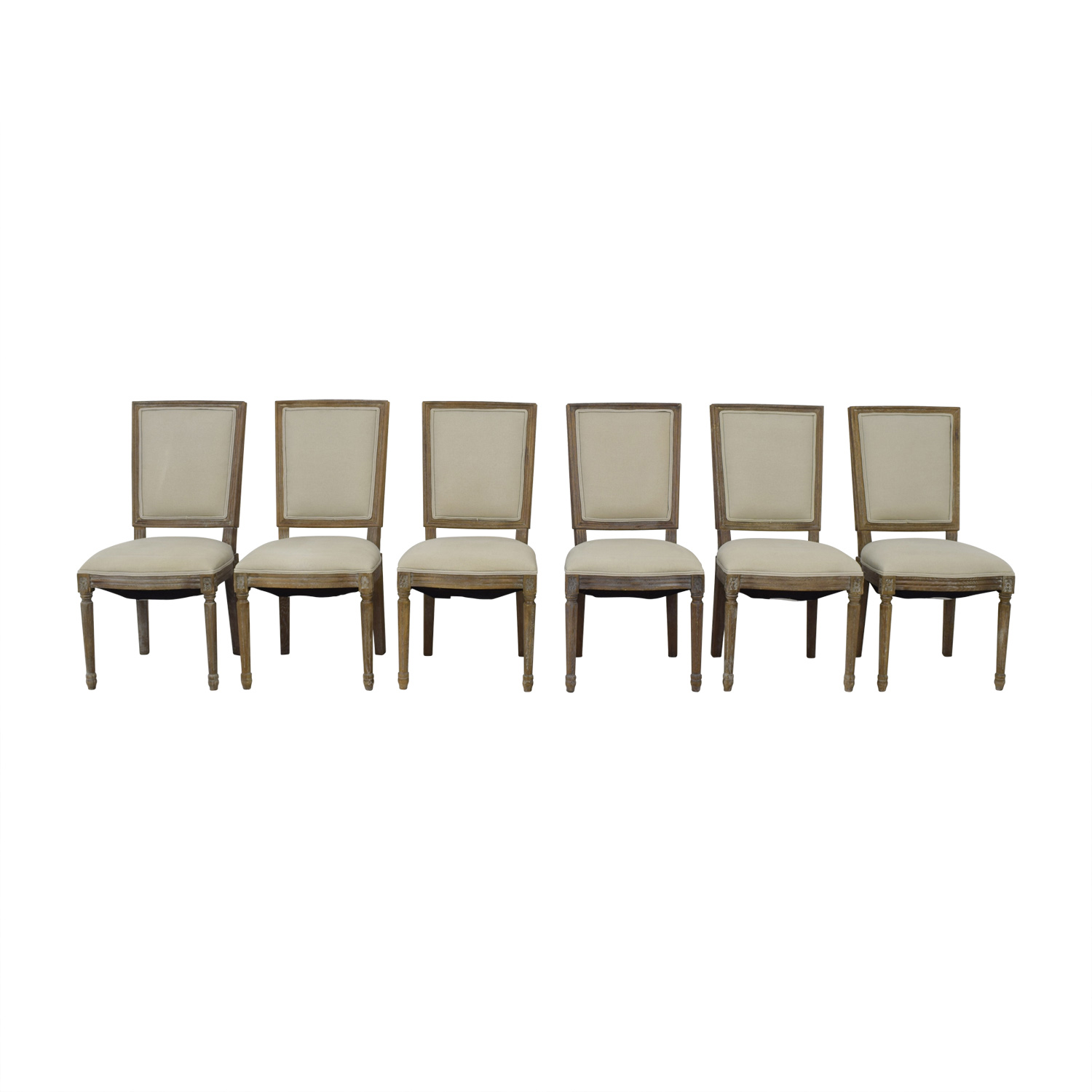 Arhaus Arhaus Adele Grey Upholstered Dining Chairs dimensions  sc 1 st  Kaiyo & 75% OFF - Arhaus Arhaus Adele Grey Upholstered Dining Chairs / Chairs