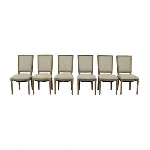 buy Arhaus Arhaus Adele Grey Upholstered Dining Chairs online
