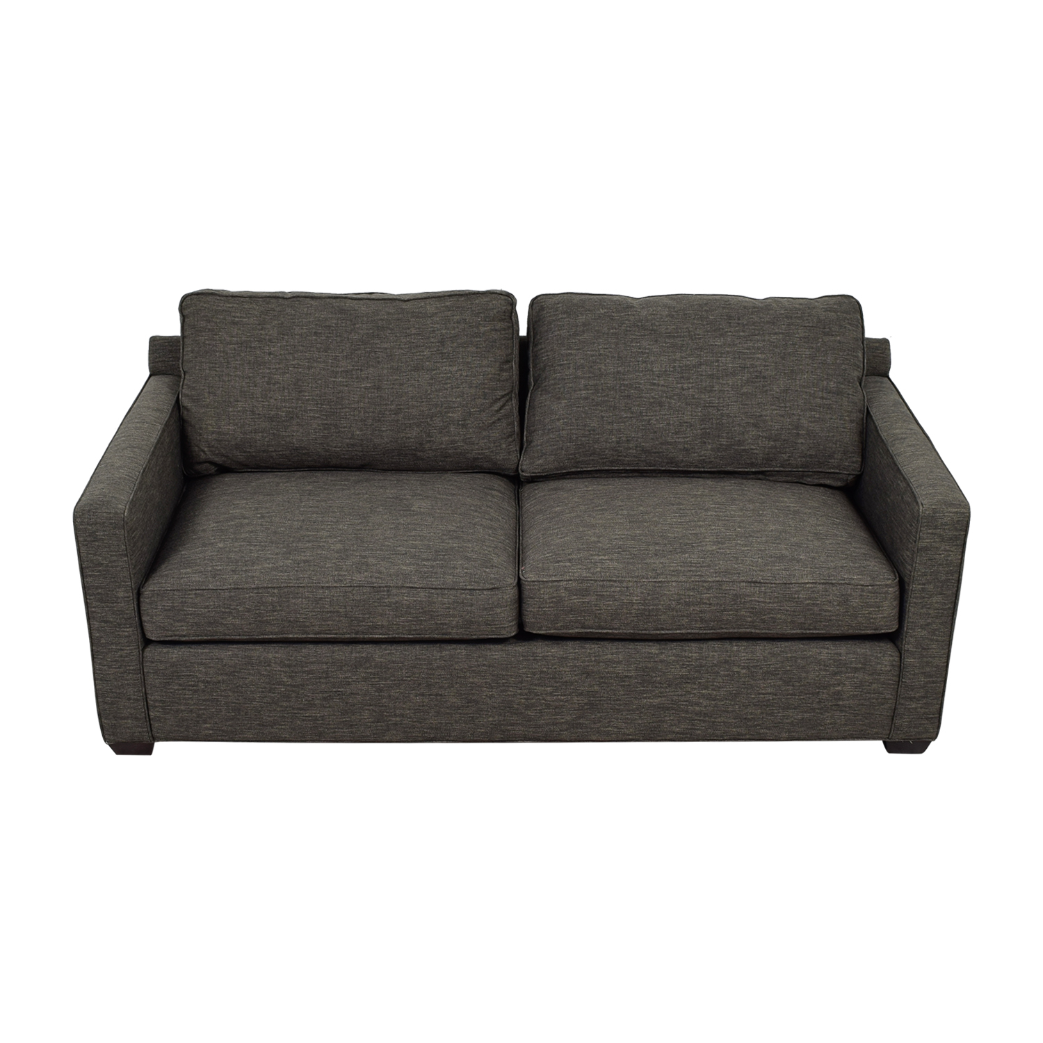 Crate & Barrel Crate & Barrel Davis Charcoal Two-Cushion Sofa on sale