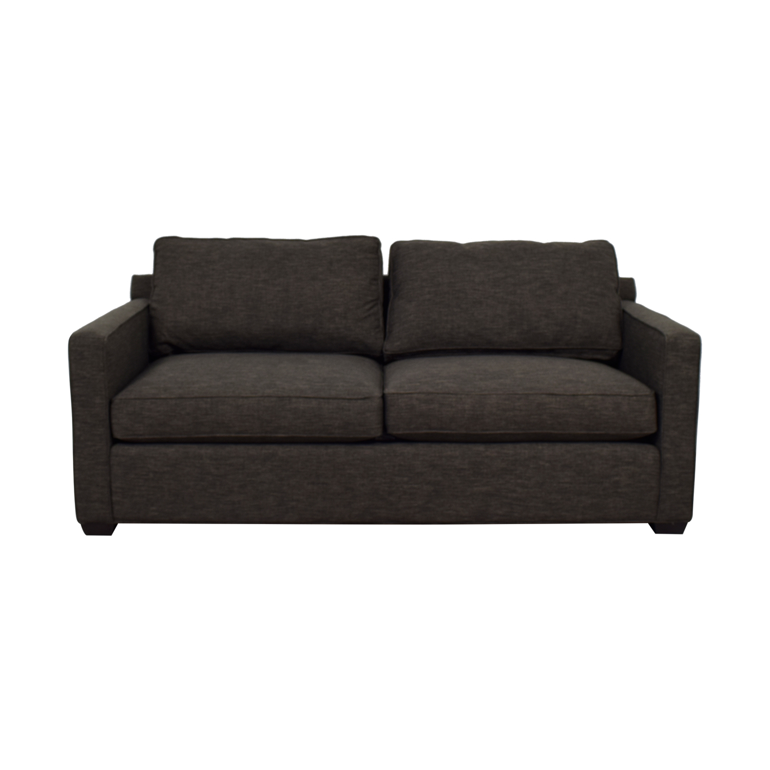 Crate & Barrel Crate & Barrel Davis Charcoal Two-Cushion Sofa coupon