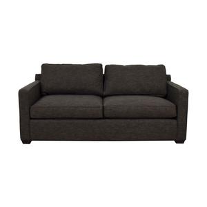 Crate & Barrel Davis Charcoal Two-Cushion Sofa sale