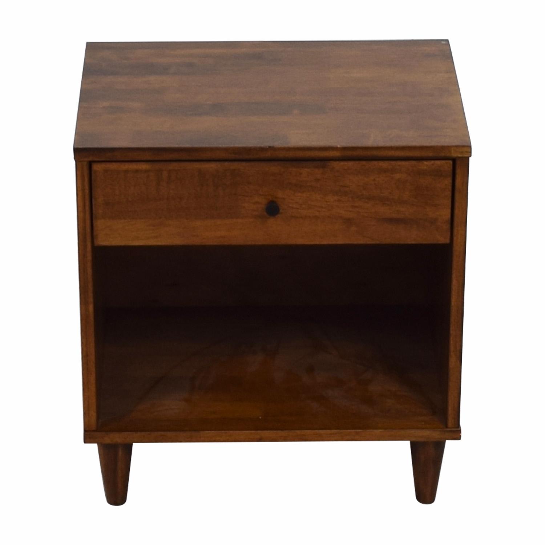 Vilas Vilas Tobacco Rubberwood Single Drawer Nightstand dimensions