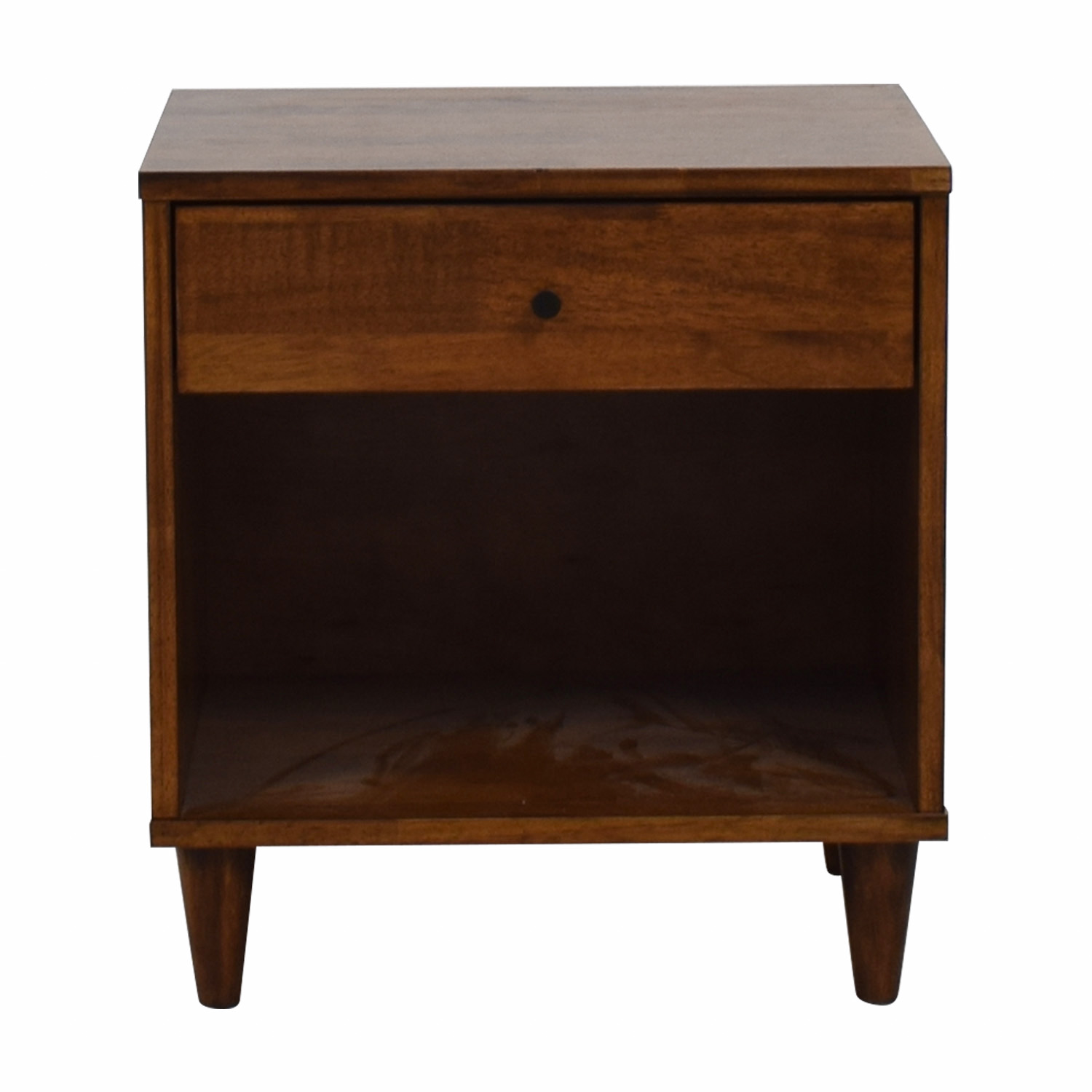 Vilas Tobacco Rubberwood Single Drawer Nightstand Vilas