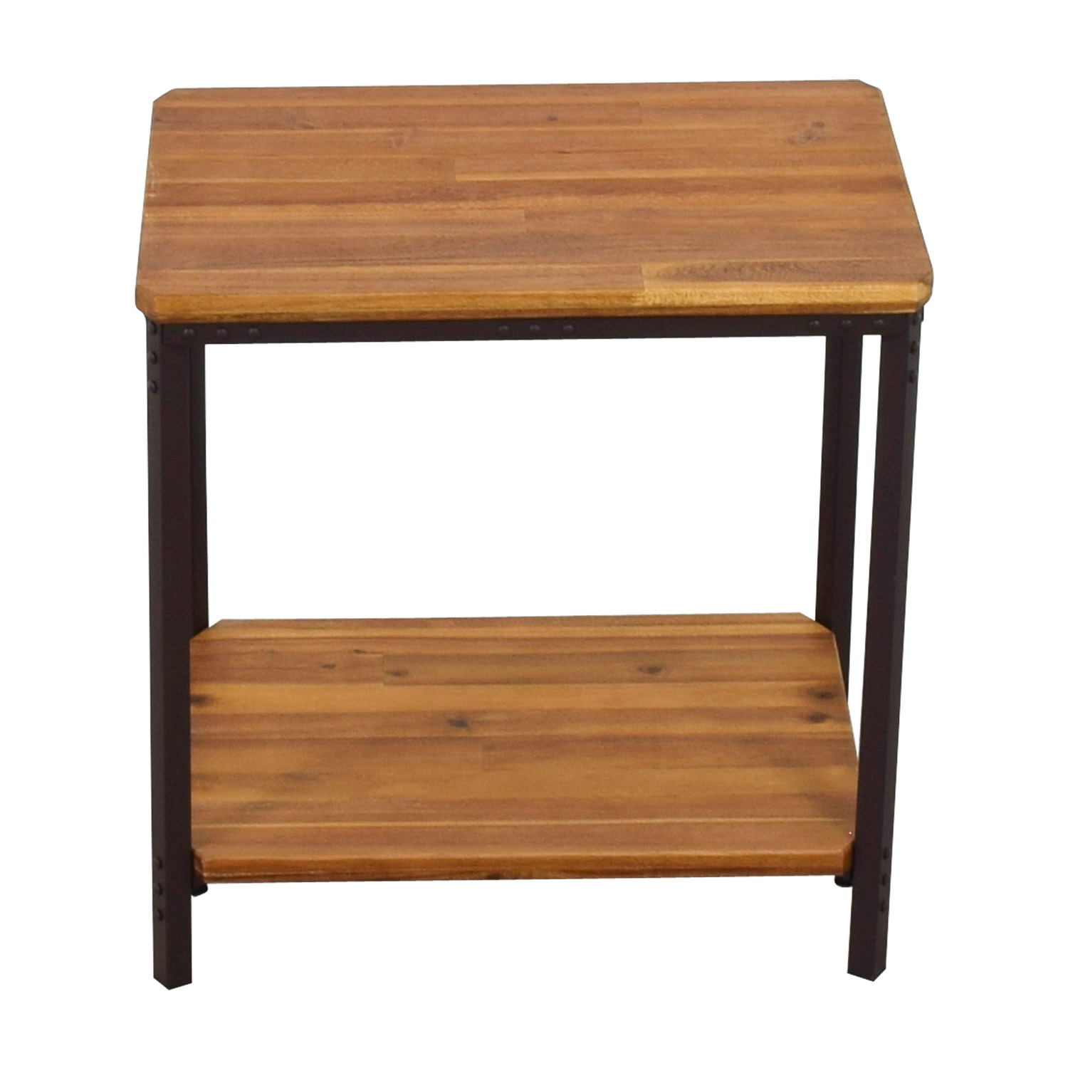 85 off christopher knight home christopher knight home ronan wood rustic metal end table tables. Black Bedroom Furniture Sets. Home Design Ideas