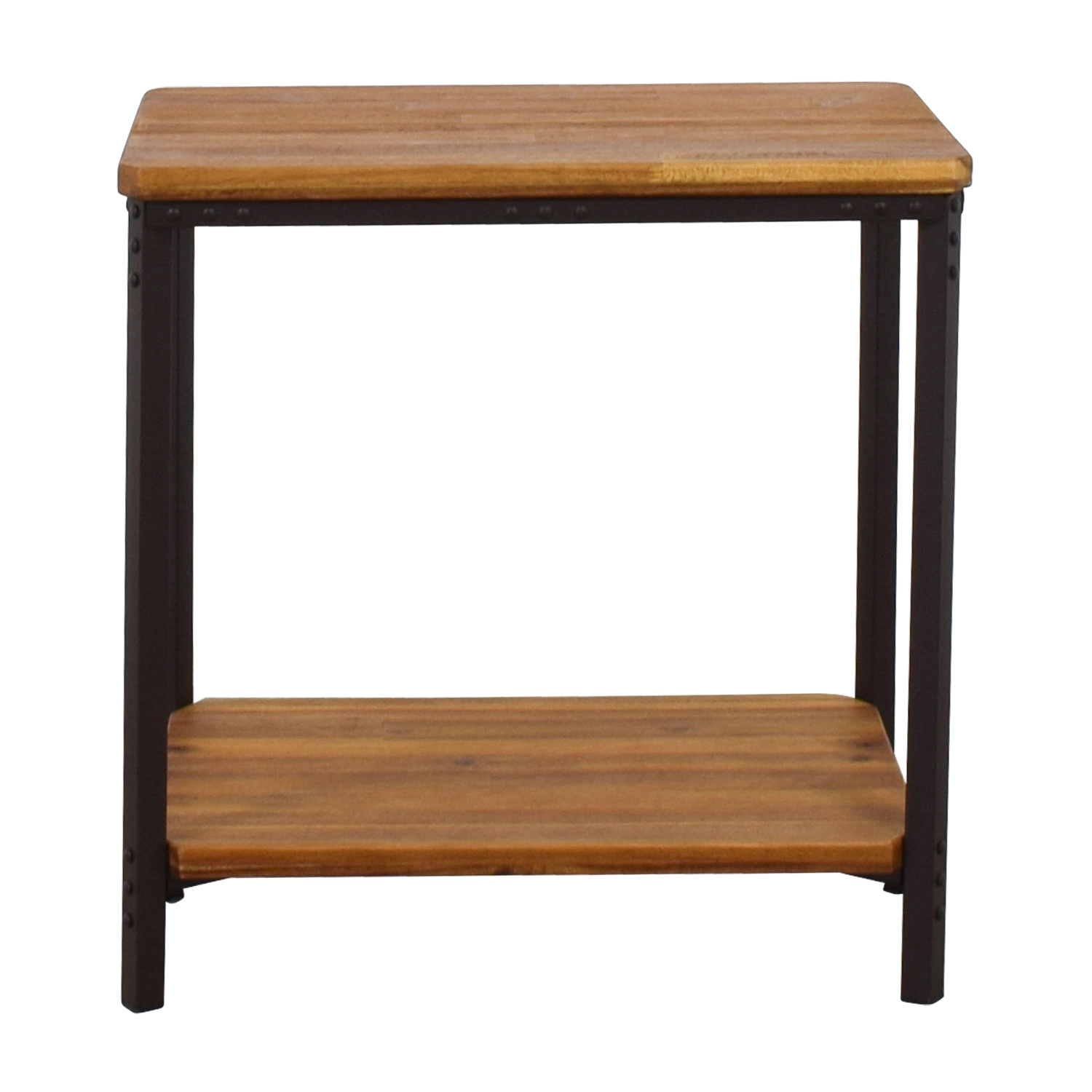 Incroyable Christopher Knight Home Christopher Knight Home Ronan Wood Rustic Metal End  Table Nj ...