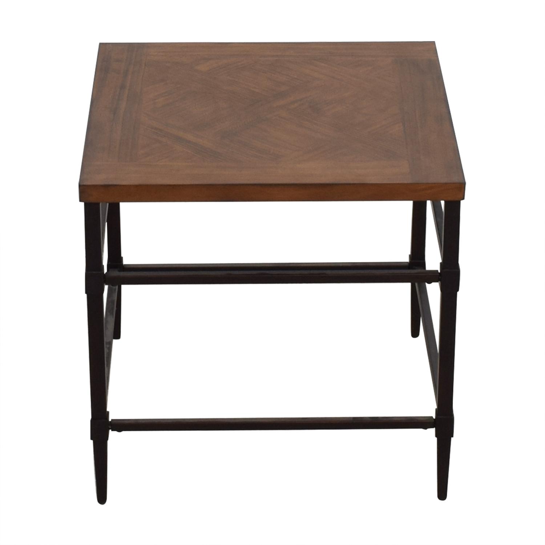 shop Furniture of America Colegate Light Oak Industrial End Table Furniture of America