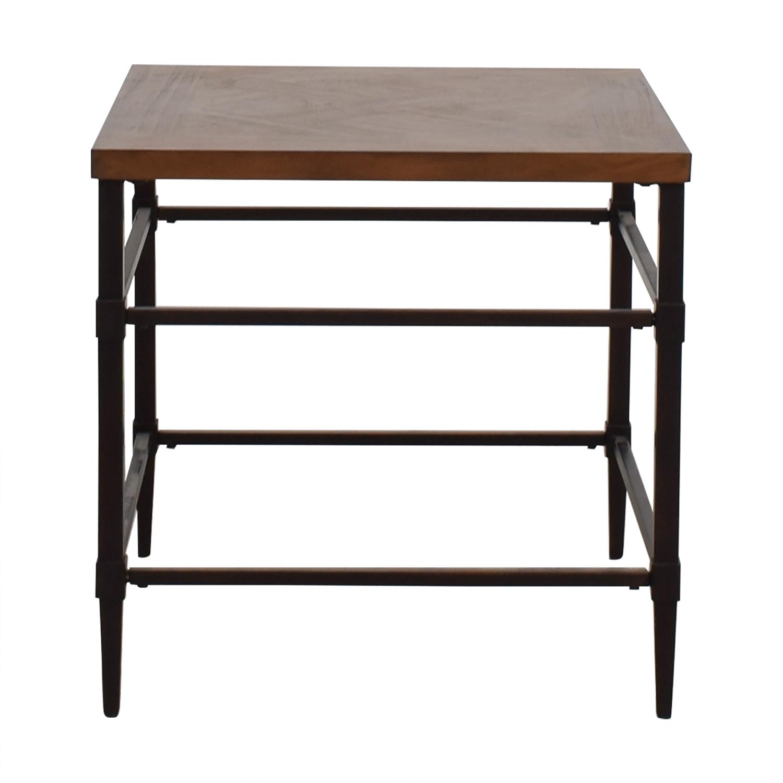 Furniture of America Furniture of America Colegate Light Oak Industrial End Table on sale