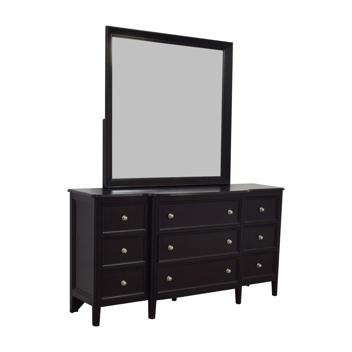 Raymour and Flanigan Raymour & Flanigan Nine-Drawer Dresser with Mirror