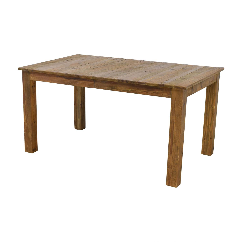 buy West Elm Rustic Expandable Farm Table West Elm Dinner Tables