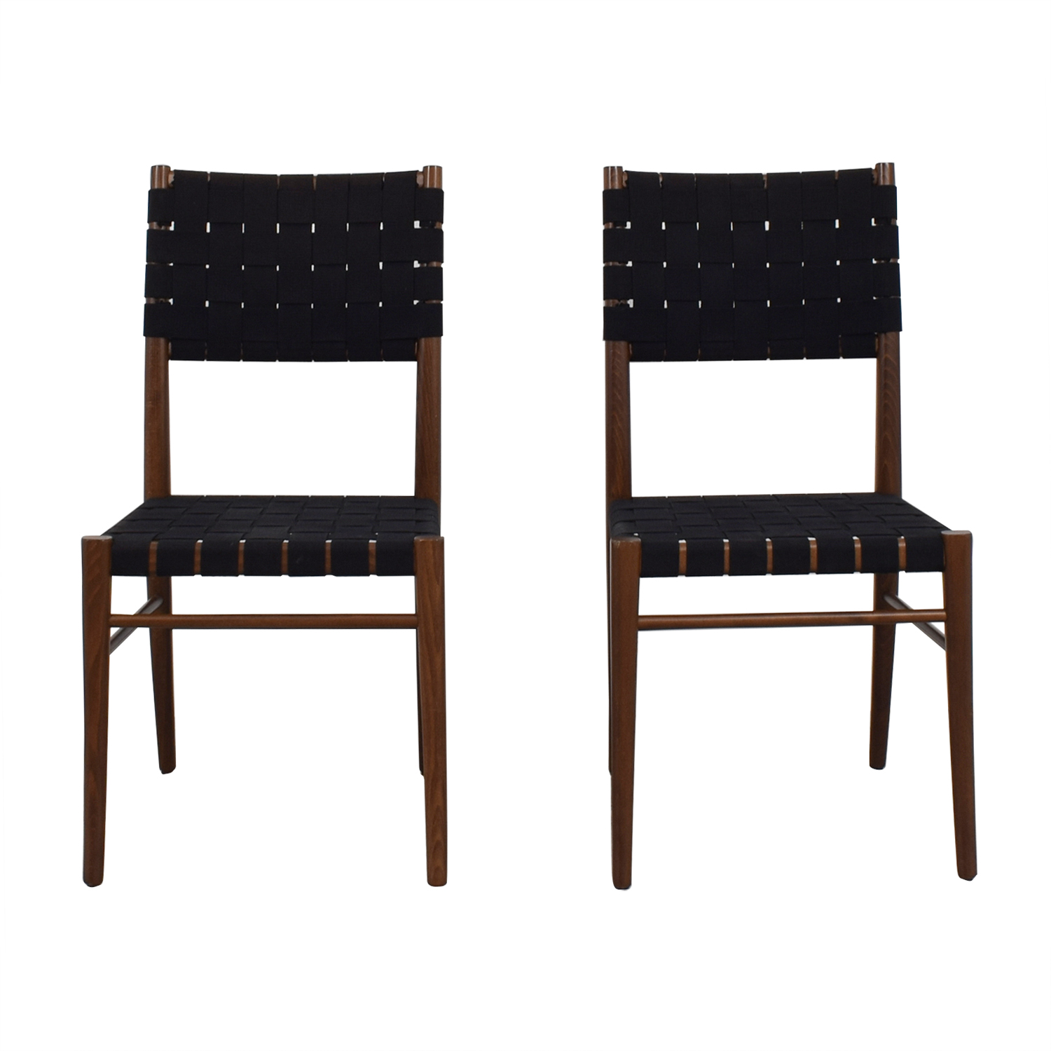 Crate & Barrel Crate & Barrel Black Dining Chairs Black, Brown