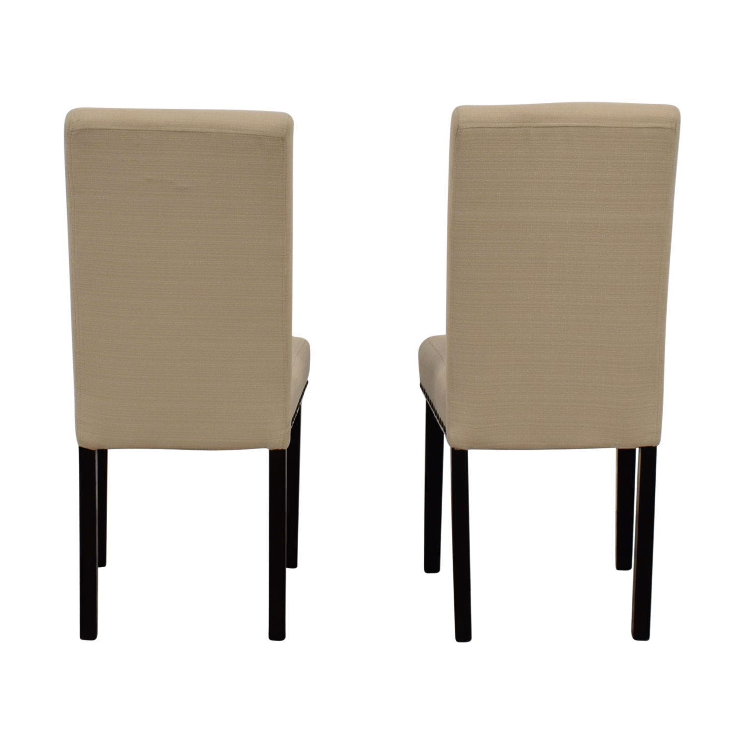shop Dwell Home Beige Nailhead Dining Chairs Dwell Home