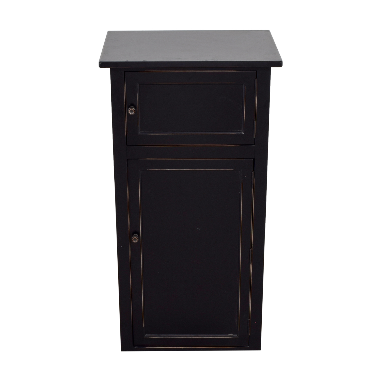 Crate & Barrel Crate & Barrel Black Shelf Cabinet Black