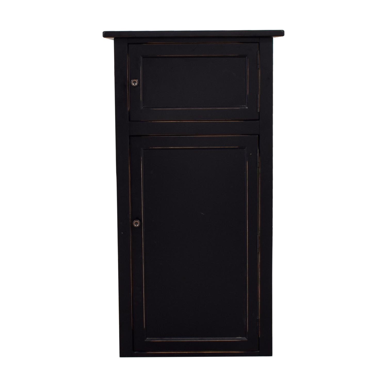Crate & Barrel Crate & Barrel Black Shelf Cabinet nj