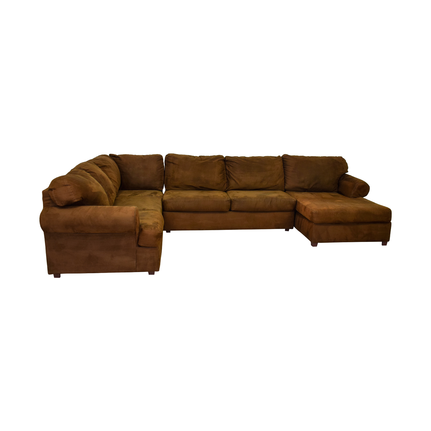 Jennifer Furniture Jennifer Furniture Chocolate Brown L-Shaped Chaise Sectional price