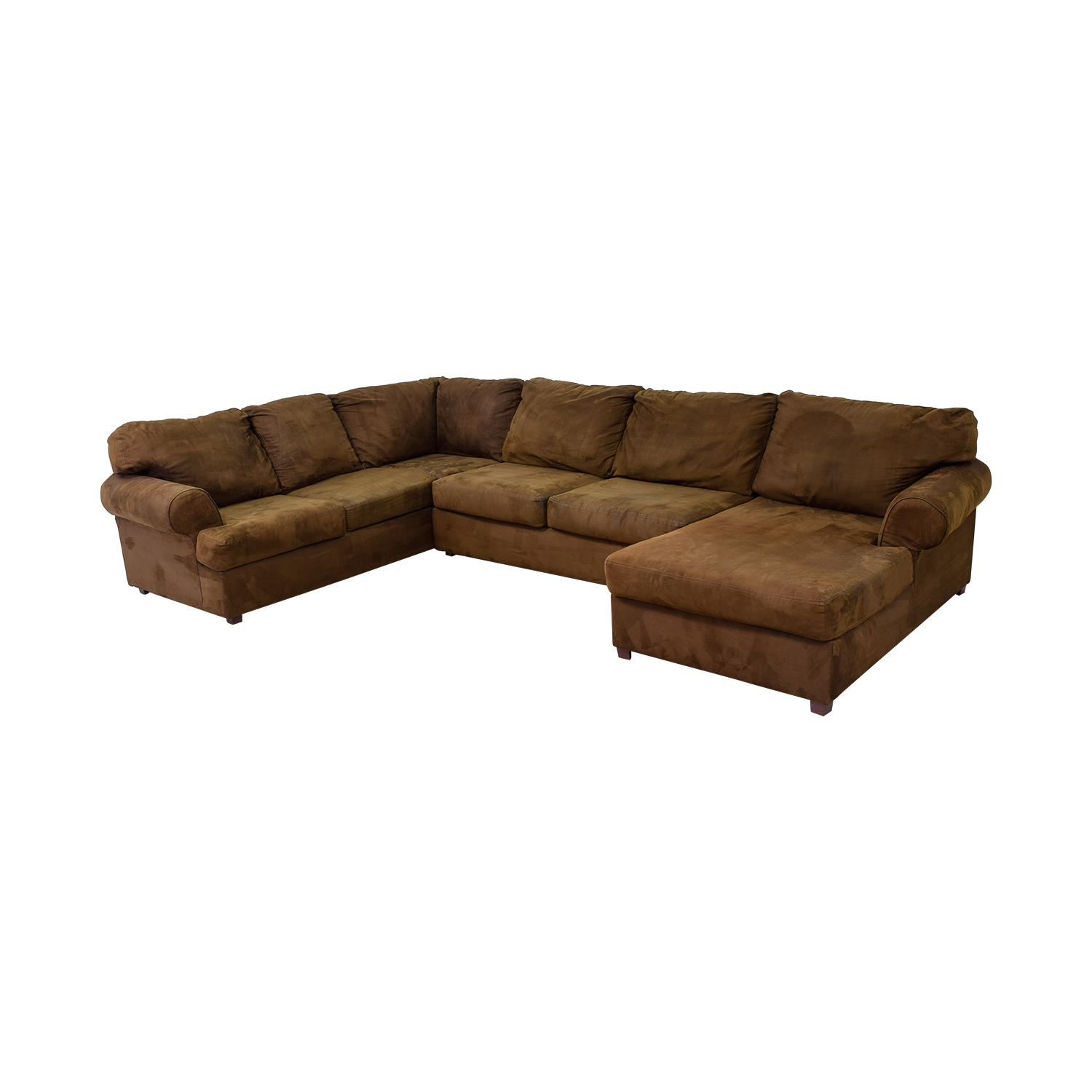 Jennifer Furniture Chocolate Brown L-Shaped Chaise Sectional Jennifer Furniture