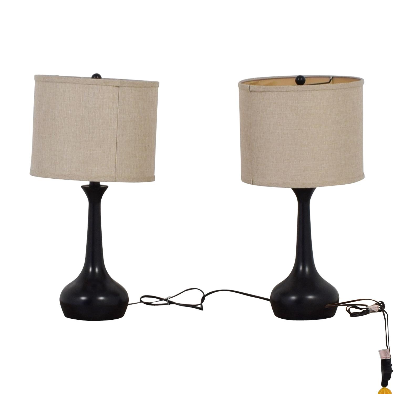 78 Off Pier 1 Pier 1 Imports Black Table Lamps Decor