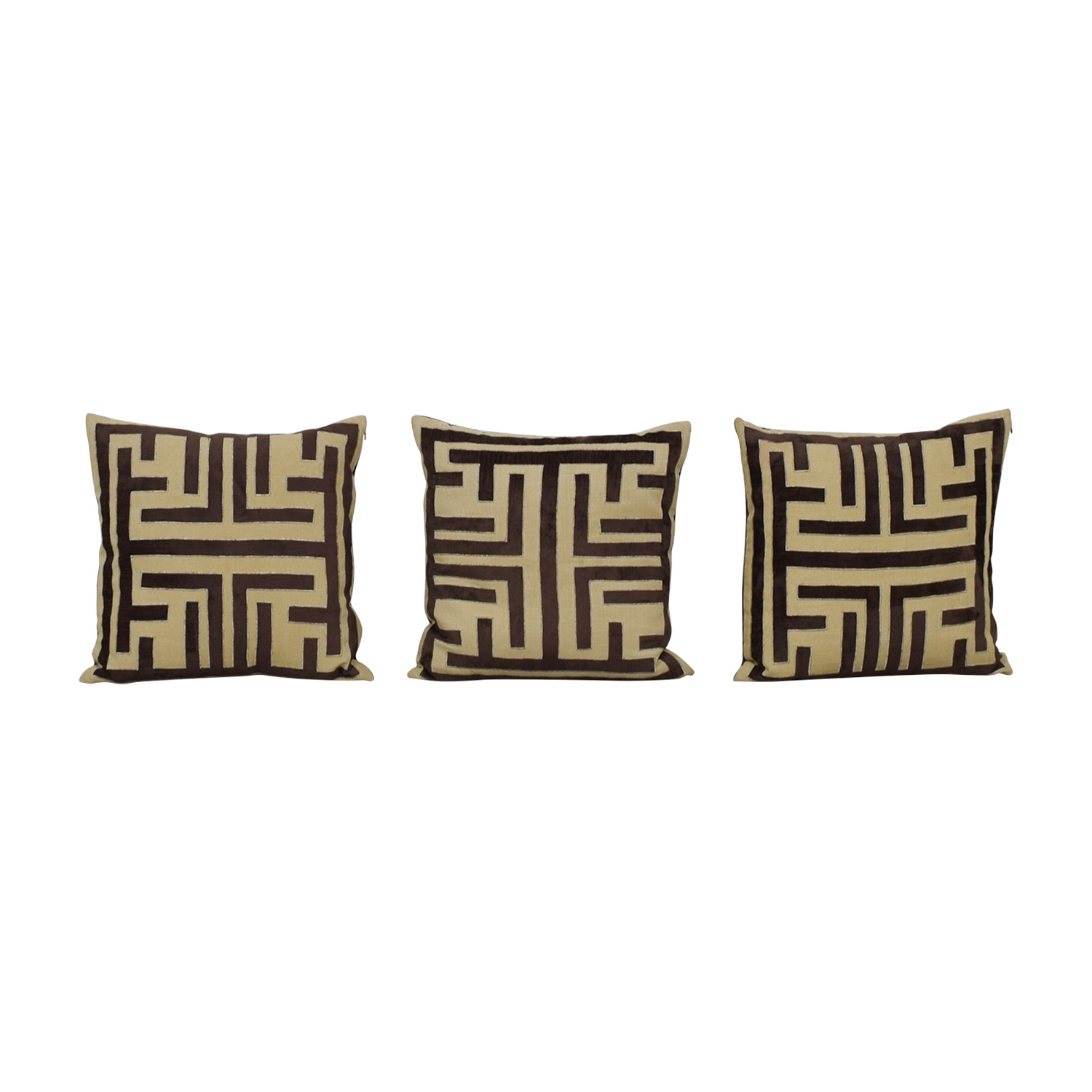 Z Gallerie Z Gallerie Labyrinth Brown and Beige Pillows on sale