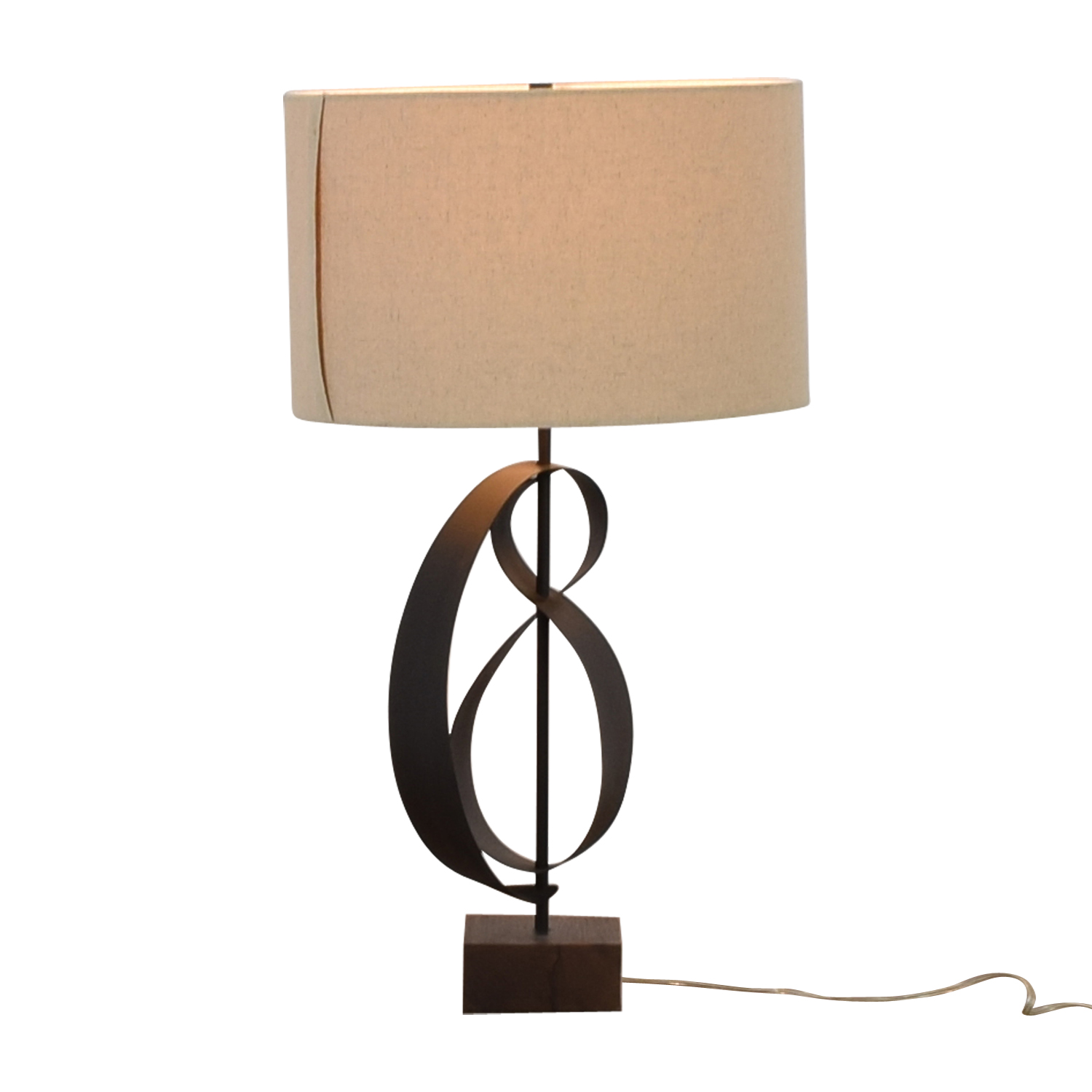 73 Off West Elm West Elm Curved Table Lamp Decor