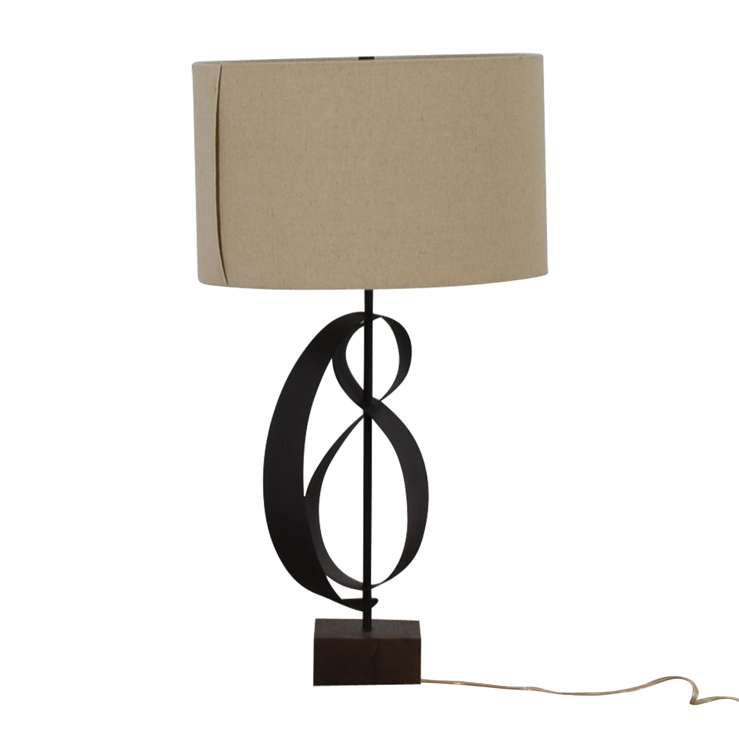 West Elm West Elm Curved Table Lamp dimensions