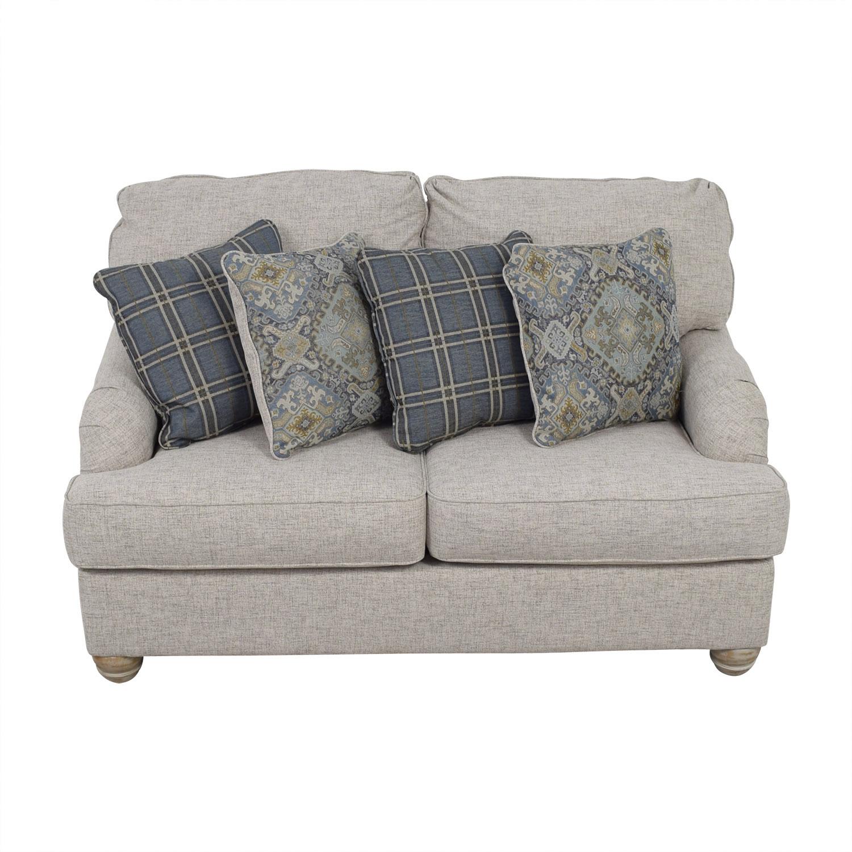shop Ashley Furniture Ashley Furniture Benchcraft Traemore Grey Loveseat online