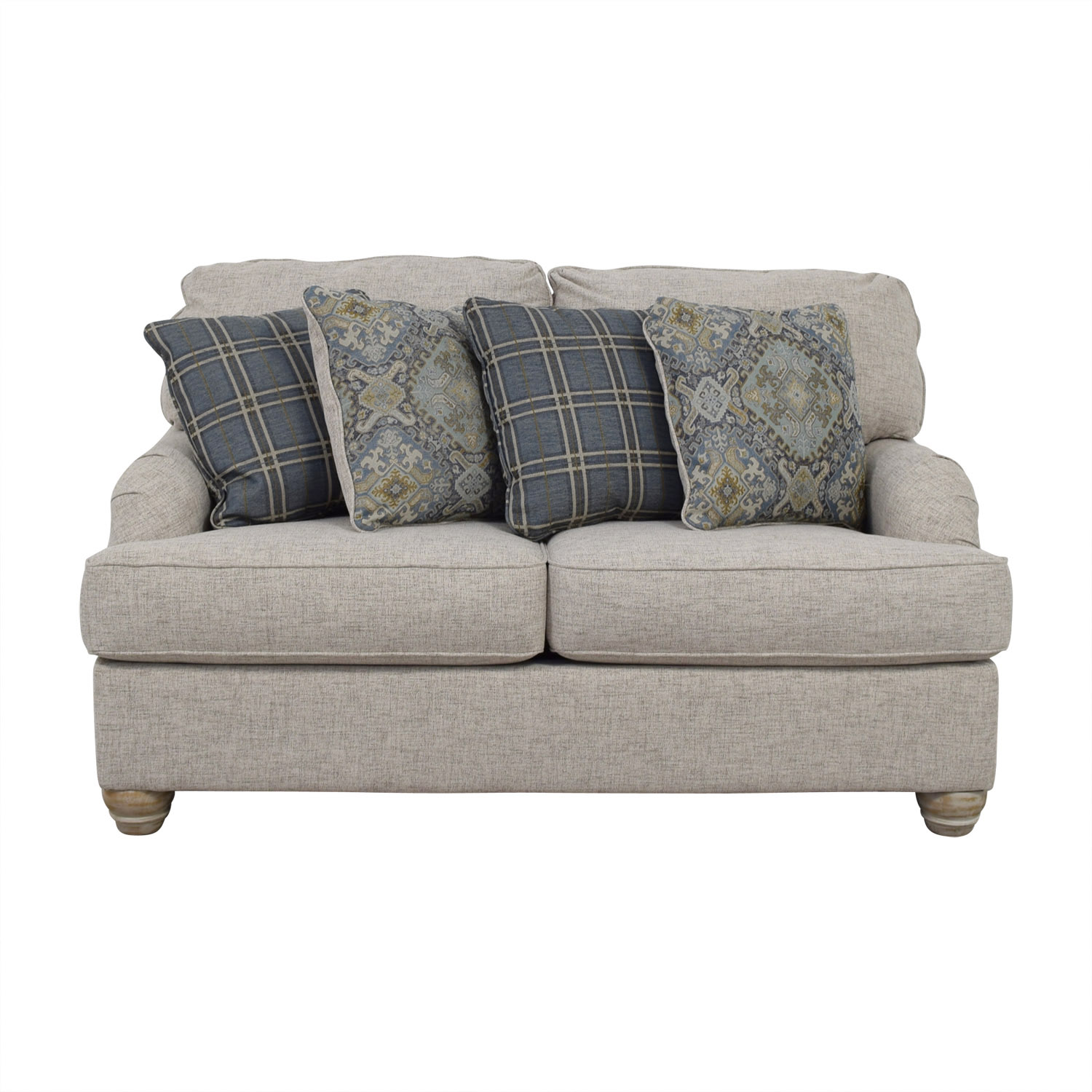 Buy Ashley Furniture Benchcraft Traemore Grey Loveseat Ashley Furniture ...