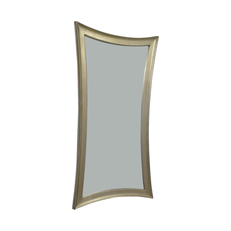 60% OFF - Pottery Barn Pottery Barn Silver Framed Floor Mirror / Decor