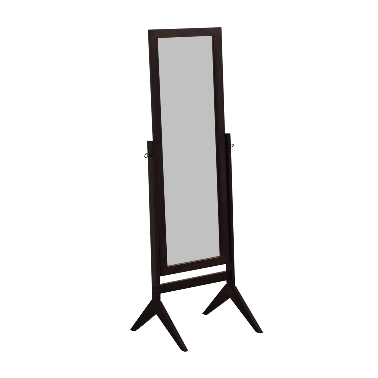 eHomeProducts Espresso Wooden Cheval Floor Mirror sale