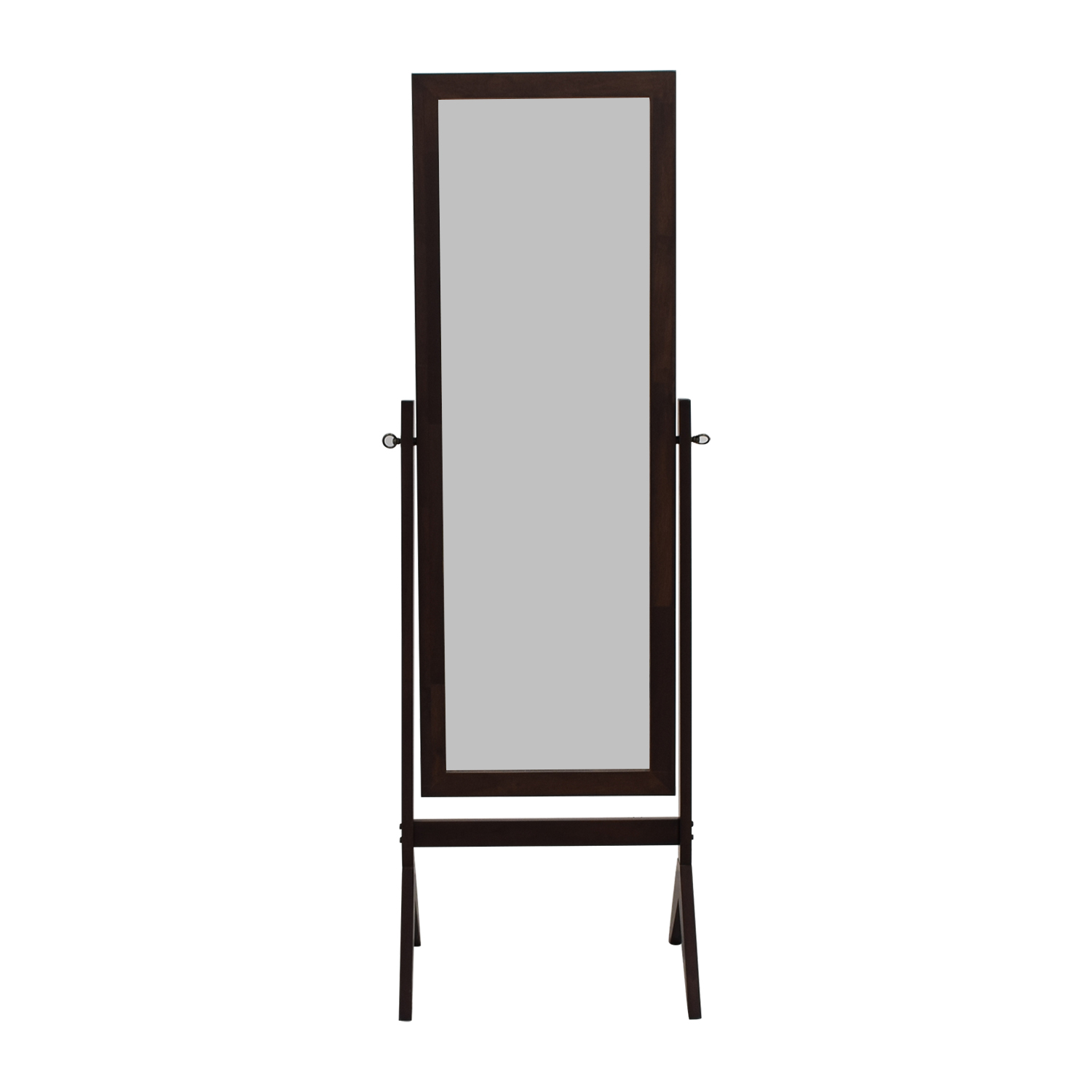 eHomeProducts Espresso Wooden Cheval Floor Mirror / Decor