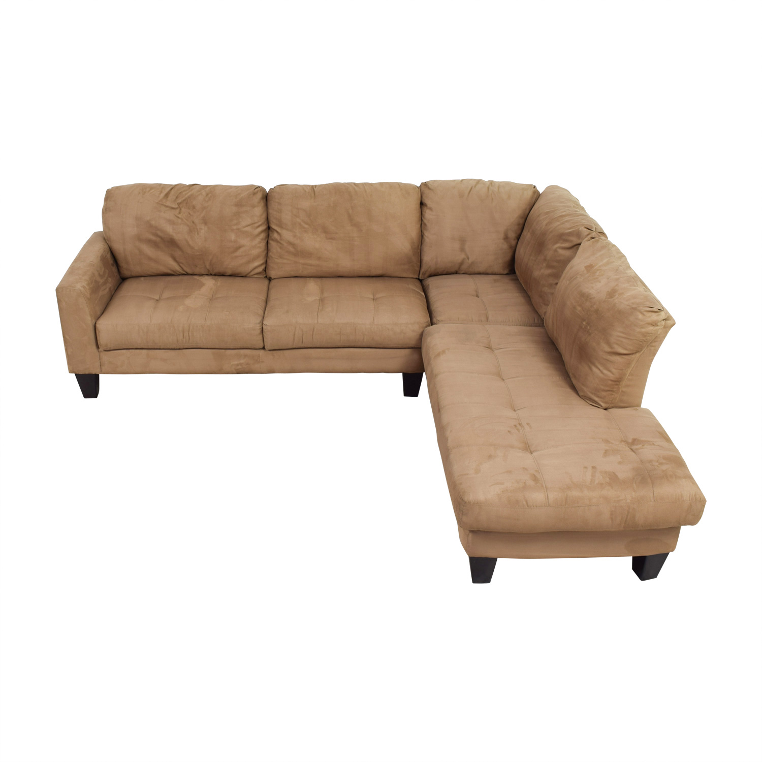 Poundex Poundex Beige L-Shaped Sectional coupon