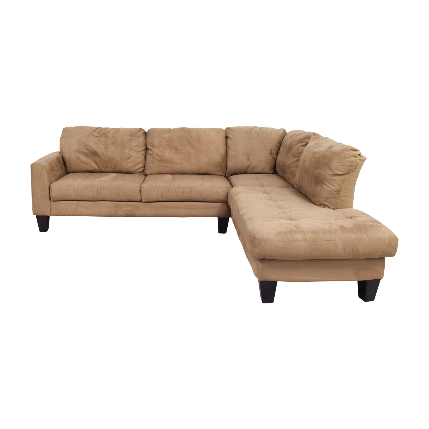 Poundex Poundex Beige L-Shaped Sectional nyc