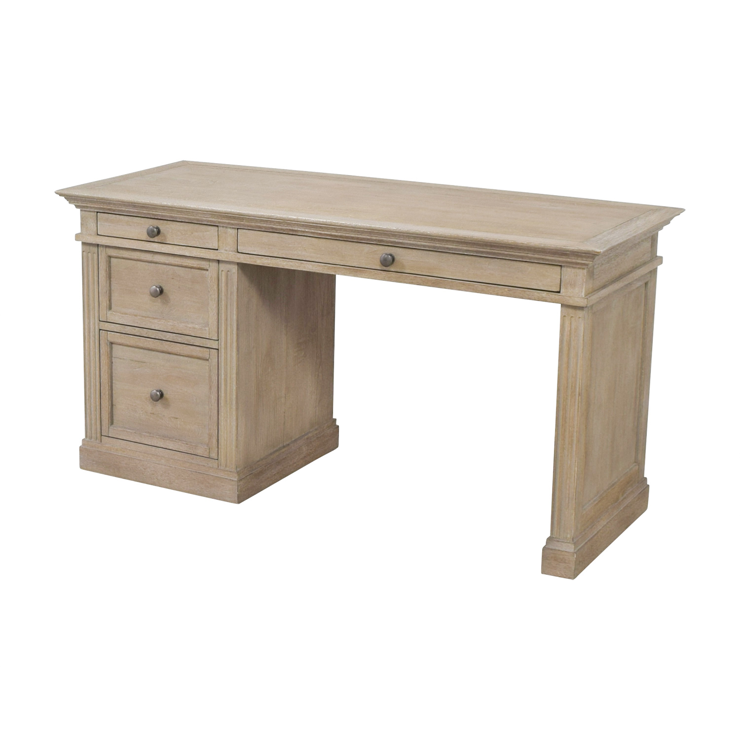 shop Pottery Barn Pottery Barn Livingston Gray Wash Four-Drawer Desk online