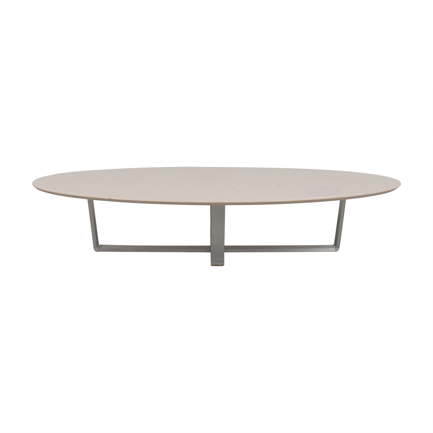 Argo Furniture Argo Furniture White Lacquer Oval Coffee Table dimensions