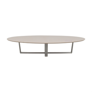 Argo Furniture Argo Furniture White Lacquer Oval Coffee Table discount