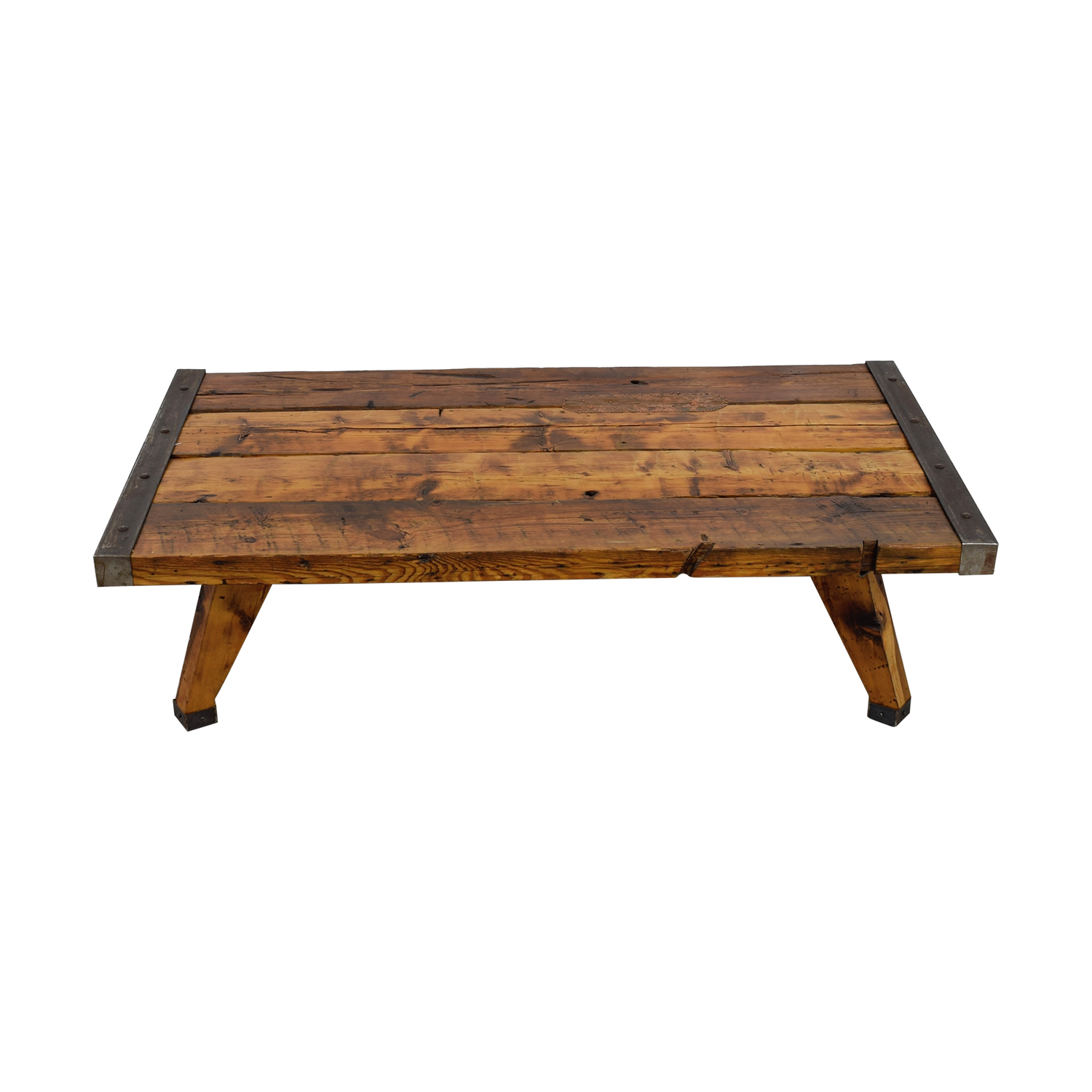 Reclaimed Wood and Metal Coffee Table Sofas
