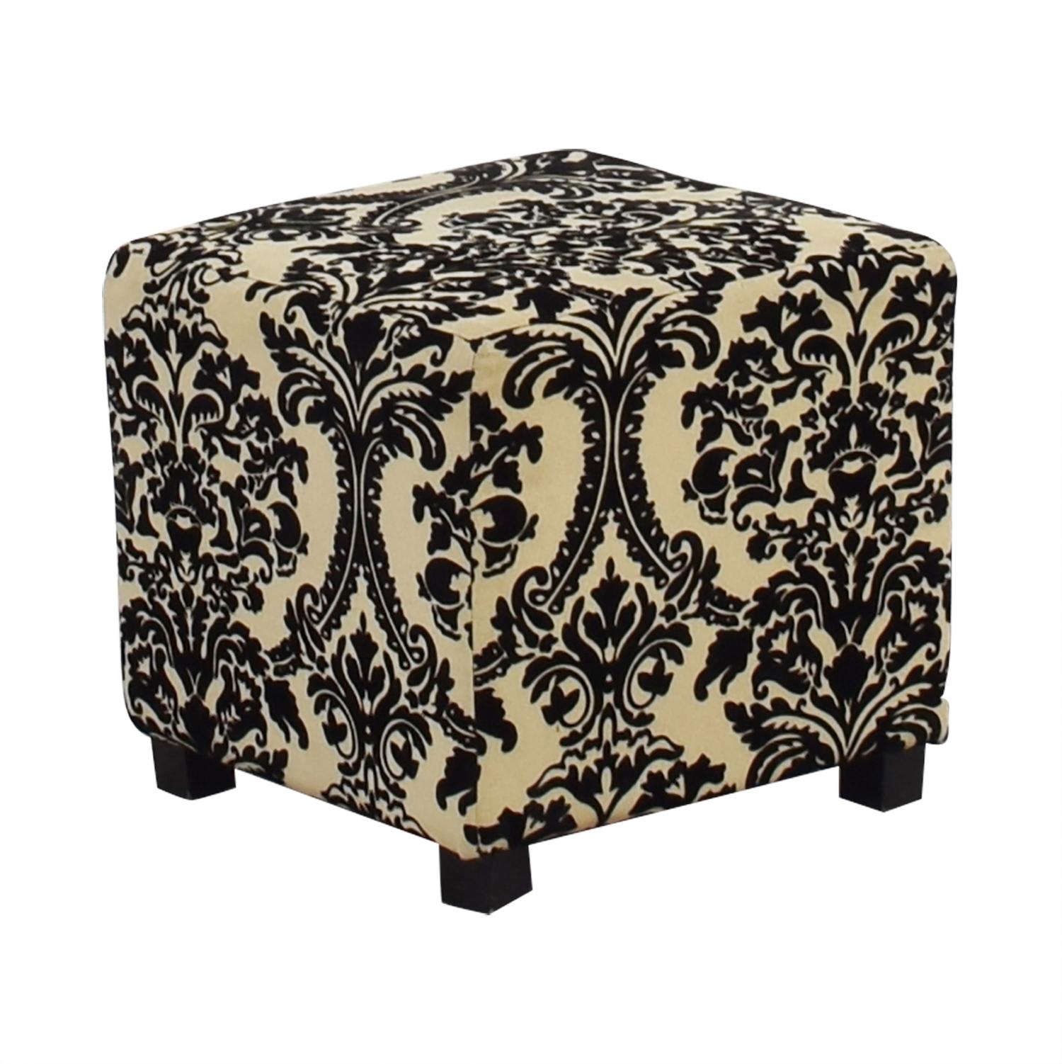 Marvelous 64 Off Bed Bath Beyond Bed Bath Beyond Black White Ottoman Chairs Machost Co Dining Chair Design Ideas Machostcouk